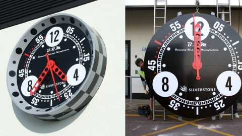 Silverstone Clock Installation