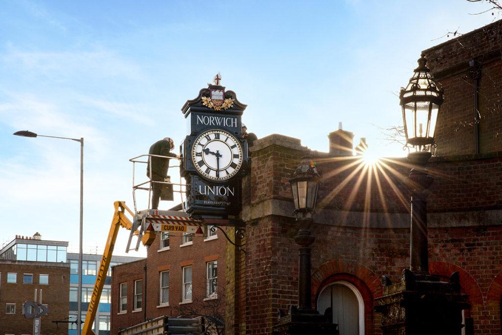 norwich union town clock restoration